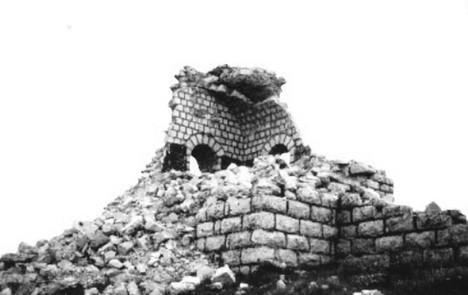 Kapela na Rtnju nekad nakon rušenja (Foto S. Todorović)