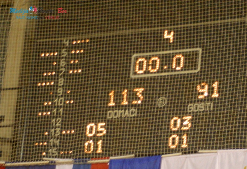 KK BOR RTB : 113 poena za petu pobedu