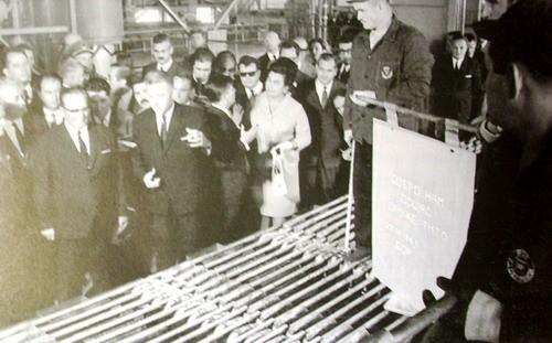 Tito u novoj elektrolizi RTB-a, 1969.