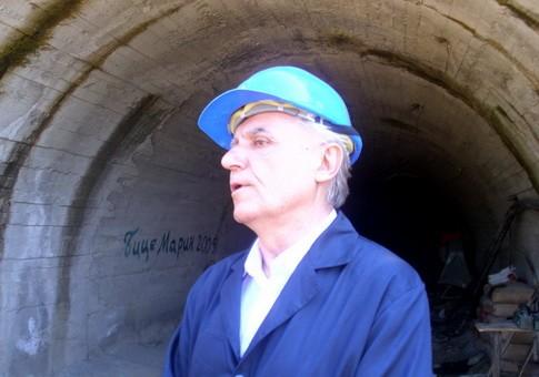 Blagoje Spaskovski na ulazu rudnika