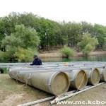 Radovi splav jezero 2