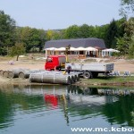 Radovi splav jezero 5