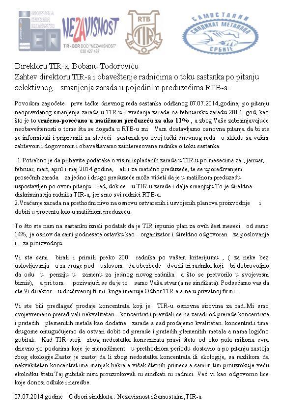 RTB Bor: TIR ostvario plan proizvodnje samo sa 14 odsto, čas kupovali, čas prodavali koncentrat bakra!