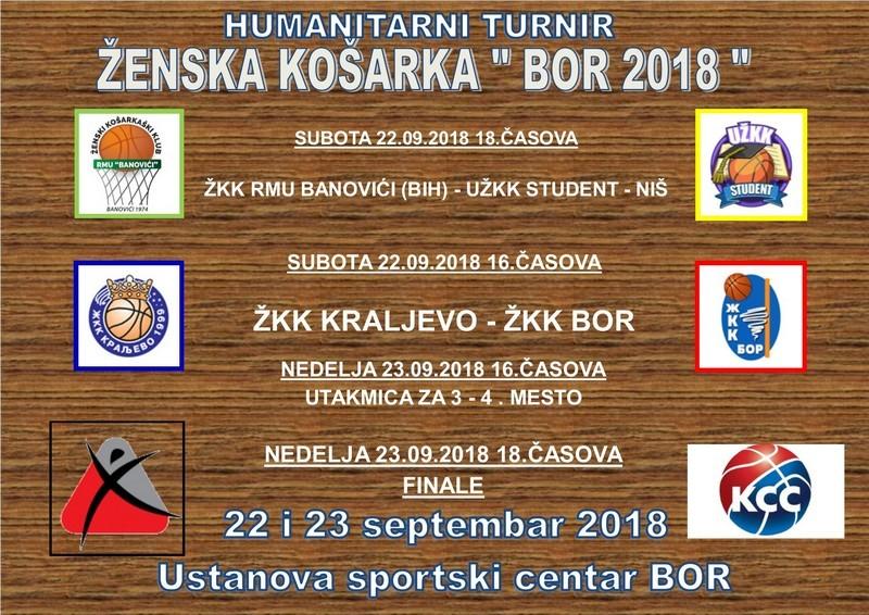 """Najava:Tradicionalni humanitarni turnir ženske košarke """"Bor 2018"""""""