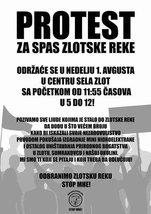 Protest: ZA SPAS ZLOTSKE REKE